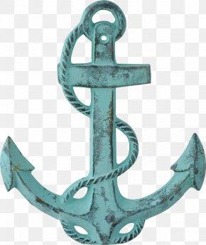 Copper Blue Anchor - Anchor Ship Piracy Clip Art PNG