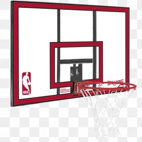 Basketball - Backboard Spalding Golden Eagles Men's Basketball Breakaway Rim PNG