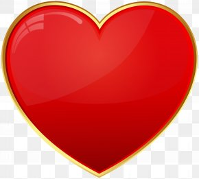 Red Heart Transparent Clip Art - Red Heart Valentine's Day Font PNG