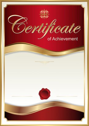 Red Certificate Template Clip Art Image - Academic Certificate Template Clip Art PNG