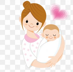 Mother Holding A Baby - Infant Mother Cartoon Clip Art PNG