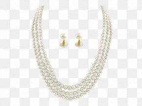Necklace - Pearl Necklace Pearl Necklace Earring Jewellery PNG