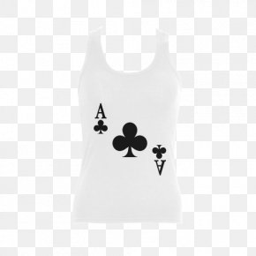 Ace Of Clubs - T-shirt Clothing Gilets Ace Of Spades Playing Card PNG