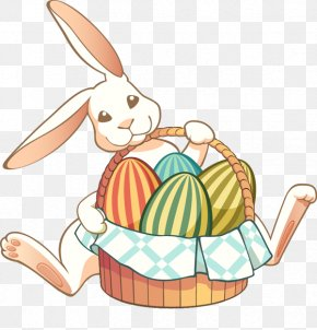 Free Easter Bunny Clipart - Easter Bunny Basket Rabbit Clip Art PNG