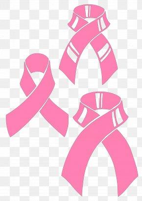 Pink Ribbon - Pink Ribbon Awareness Ribbon Clip Art PNG