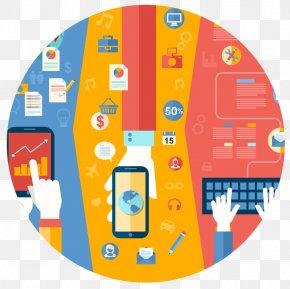 Web Design - Responsive Web Design Flat Design Mobile App PNG