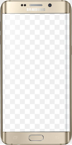 Samsung Mobile Phone Golden Border - Samsung Galaxy S7 Telephone PNG