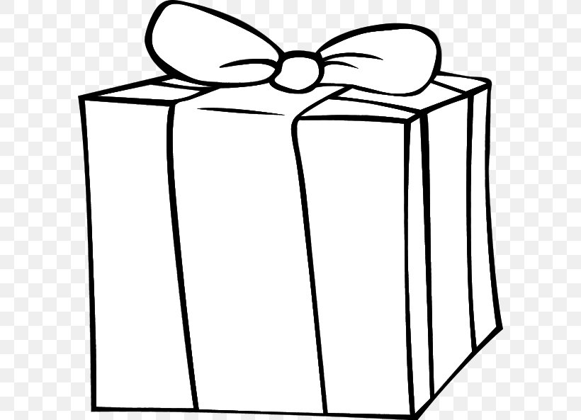 Christmas Gift Christmas Gift Black And White Clip Art, PNG, 600x593px, Gift, Area, Birthday, Black And White, Christmas Download Free