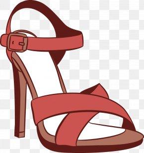 Vector Female High-heeled Sandals - Sandal High-heeled Footwear Shoe PNG