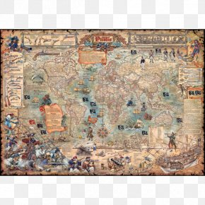 World Map - Jigsaw Puzzles Puzzle Pirates Golden Age Of Piracy World Puzzle Championship PNG