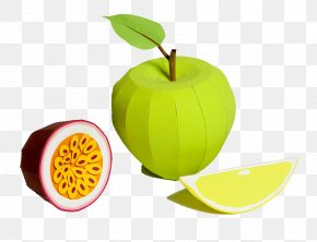 Apple Made Of Paper - Superfood Diet Food Wallpaper PNG