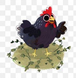 Cartoon Chick - Chicken Coop Cartoon Illustration PNG