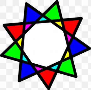 Line - Line Star Polygon Enneagram Geometry PNG