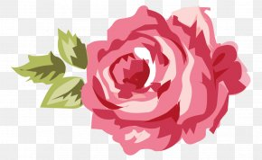 Picture Of Pink Rose - Shabby Chic Flower Clip Art PNG