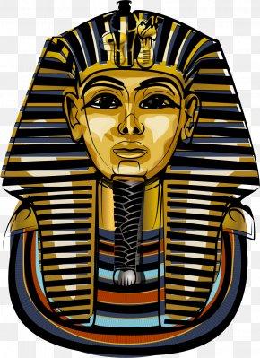 Vector Hand-painted Egyptian Pharaoh - Egyptian Pyramids Egyptian Museum Ancient Egypt Tutankhamun Pharaoh PNG