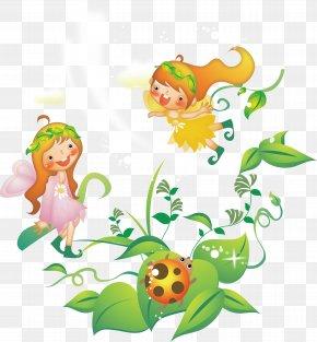 Cartoon Flower Fairy - Cartoon Fairy Comics Illustration PNG