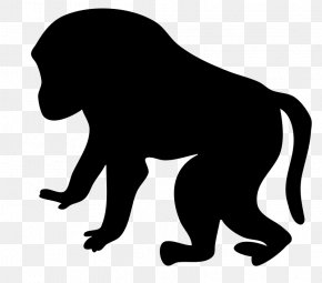 Contour - Mandrill Primate Drawing Clip Art PNG