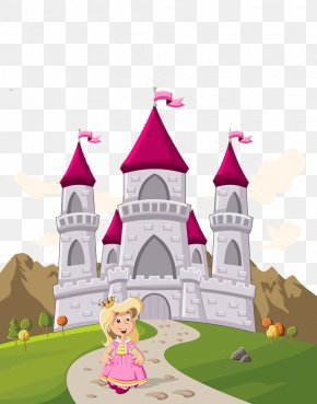 Castle And Princess - Princess Castle Cartoon Royalty-free PNG