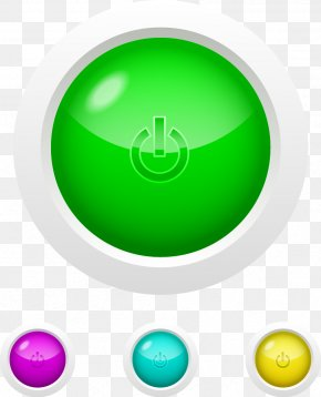 Vector Green Button - Button Download Icon PNG
