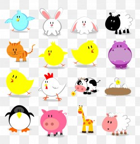 Cute Little Animals Icon. - Animal Icon PNG