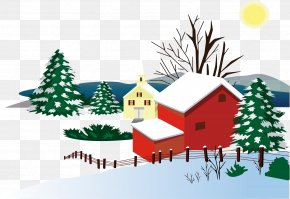 Housing Material Snow Warm Winter - Santa Claus Winter Snow PNG