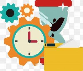 Gear Hourglass Folder - Clock Gear Hourglass Computer File PNG