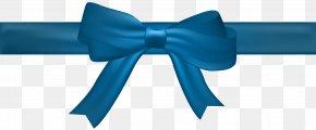 Bow Blue Transparent Clip Art Image - Blue PNG