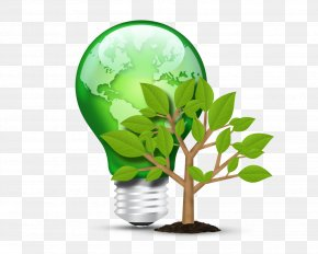Green Energy Saving Free Downloads - Incandescent Light Bulb Lighting LED Lamp Fluorescent Lamp PNG
