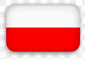 Polska Cliparts - Red Rectangle Font PNG
