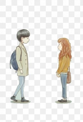 Couple Face To Face Picture Material - Korean Drama Fan Art Drawing Illustration PNG