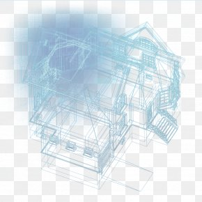 Construction Of Three-dimensional Building Plans - Architecture Architectural Engineering Drawing PNG
