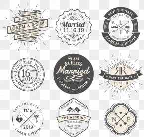 Vintage Wedding Invitations Cover - Wedding Invitation Logo Vintage Clothing PNG