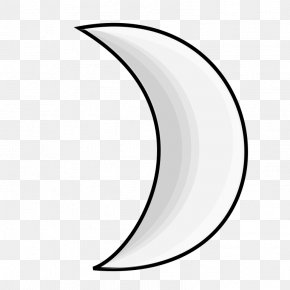 Silver Line Cliparts - Moon Symbol Weather Crescent Clip Art PNG