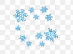 Blue Snowflake - Blue Snowflake Download PNG