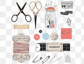 Tailor Tools - Sewing Needle Clip Art PNG