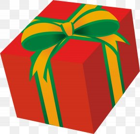 Gift - Red Present Box Clipart. PNG