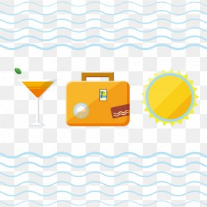 Summer Beach Vacation Suitcase Vector Material - Suitcase Vacation Travel PNG