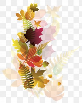 Transparent Deco Fall Leaves Image - Coffee Autumn Clip Art PNG