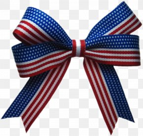 Patriotic Bow - Bow Tie Ribbon Clip Art Flag Of The United States Shoelace Knot PNG