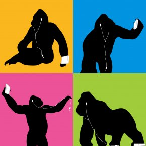 Gorilla - IPhone 7 AirPods Killing Of Harambe Phone Connector PNG