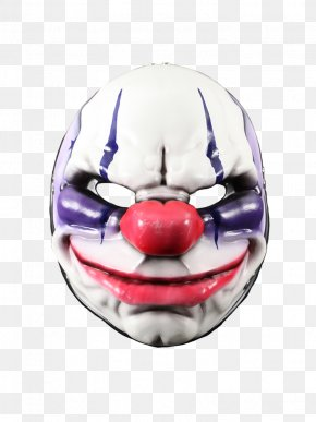 Mask Clown - Payday 2 Payday: The Heist Mask Overkill Software Video Game PNG