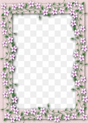 Delicate Frame Cliparts - Paper Picture Frames Floral Design Flower Clip Art PNG