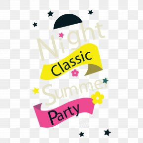 Vector Fun Summer Party Poster - Poster Euclidean Vector PNG