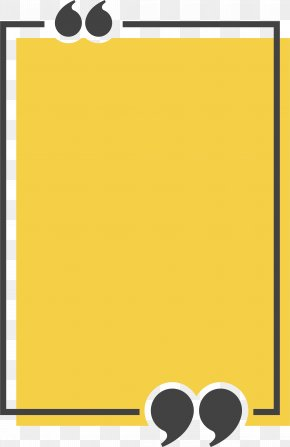 Yellow Rectangle Title Box - Congee Text Box Quotation Icon PNG