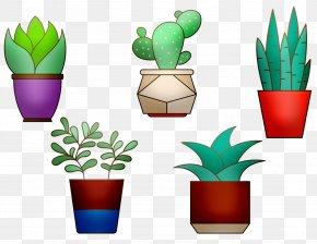 Cyclamen Flowerpot Houseplant - Flowerpot Cactus Houseplant Plants Image PNG