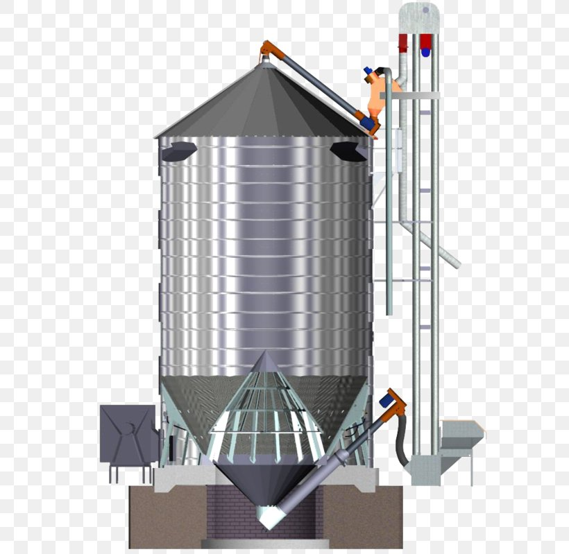 Silo Cereal Bucket Elevator Grain Elevator Conveyor System, PNG, 621x799px, Silo, Bucket Elevator, Building, Cereal, Conveyor System Download Free