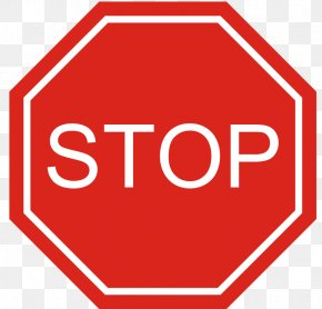 Sign Stop - The Big Red Stop Sign Traffic Sign PNG