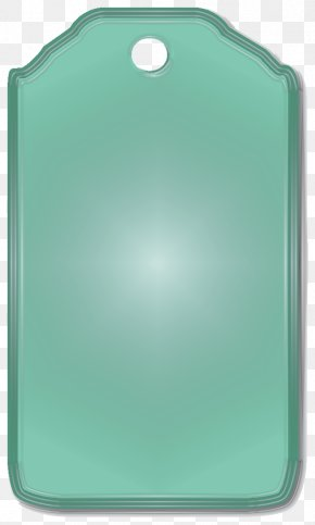Green Tag - Green Turquoise Rectangle PNG