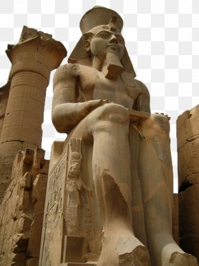 Egyptian Pharaoh Pyramid Sculpture - Luxor Temple Egyptian Pyramids Ancient Egypt Sculpture PNG