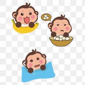 Monkey Monkey Cartoon Clip Buckle Free - Monkey Download PNG